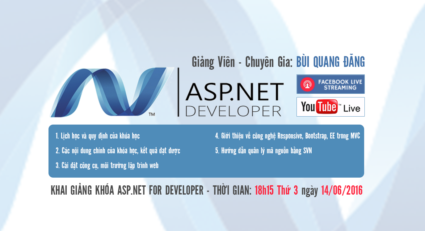 khóa học lập trình ASP.NET